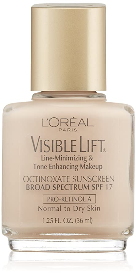 農民シフト暗黙L'OREAL VISIBLE LIFT LINE MINIMIZING MAKEUP #102 SOFT IVORY