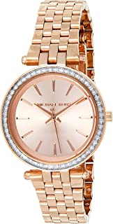 Michael Kors Mini Darci Women's Rose Gold Dial Stainless Steel Band Watch - MK3366
