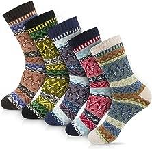 Women Winter Socks Women Socks Warm Thick Soft Wool Socks Christmas Gift Socks for Women Cozy Crew Socks-5packs