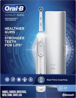 Oral-B Genius 6000 Electric Toothbrush, White (Packaging May Vary)