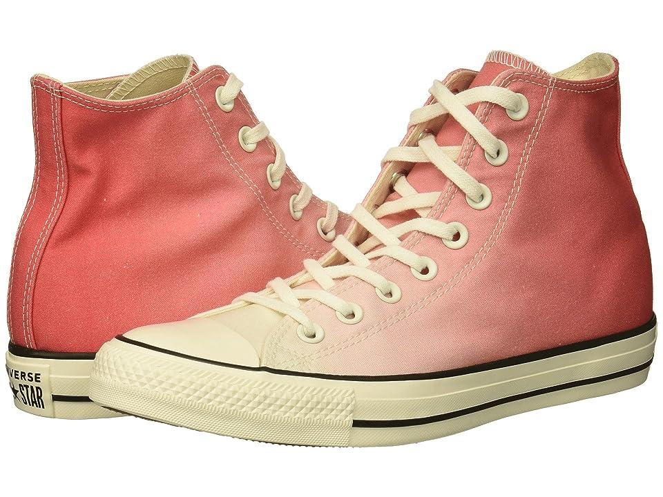 Converse Chuck Taylor All Star Ombre Wash Hi (Punch Coral/Egret/Egret) Women