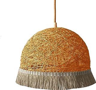 Lámpara FRINGES naranja - lámpara decorativa de techo estilo Boho