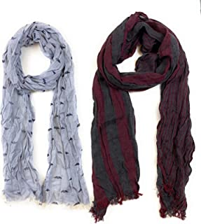 ​John Varvatos Fashion Scarf 2-Pack with Skull Print