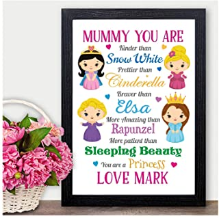 Christmas Gifts for Mum Mummy Her Princess PERSONALISED Xmas