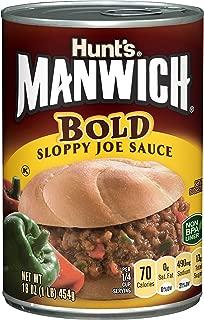 Manwich Bold Sloppy Joe Sauce, 16 Oz, Pack of 12
