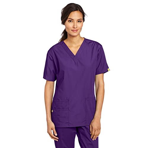 60e9471c40d WonderWink Women's Plus Size Scrubs Bravo 5-Pocket V-Neck Top