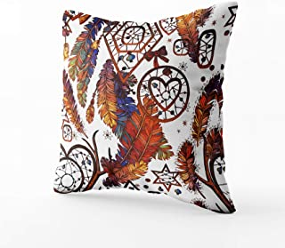 GROOTEY Square Pillow Case with Zippered for Easter Home Sofa Decor 16X16Inch Costom Throw Cover Cushion