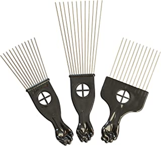 3 Pcs Combs Metal Afro Comb Hair Picks Wide Tooth Picks Comb Salon Using for Hairdressing Styling Tool
