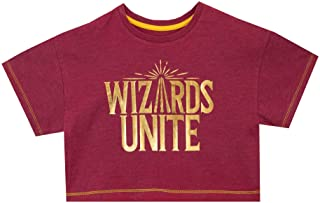 HARRY POTTER Camiseta de Crop de Manga Corta para Niñas Wizards Unite