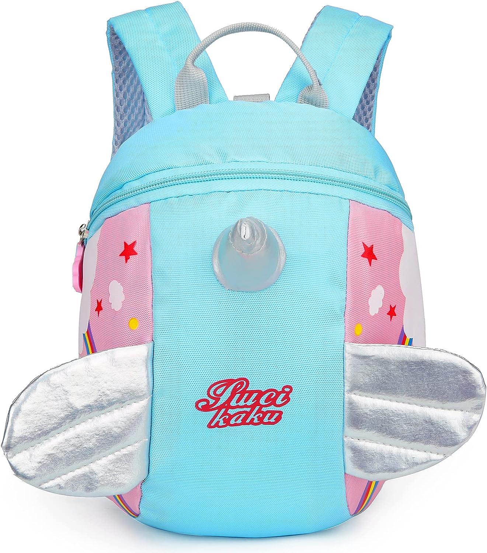 Cute Toddler mini backpack with leash,children Bag Kids harness bookbag for Girl Boy 2-6 Years(Blue)