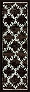 Superior Bohemian Trellis Collection Area Rug, 8mm Pile Height with Jute Backing, Chic Geometric Trellis Pattern, Fashionable and Affordable Woven Rugs - 2'7
