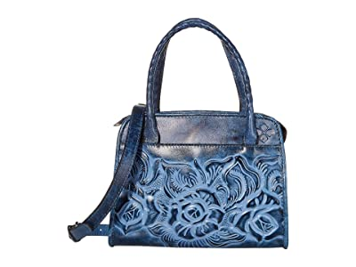 Patricia Nash Paris Satchel (Safflower Blue) Satchel Handbags