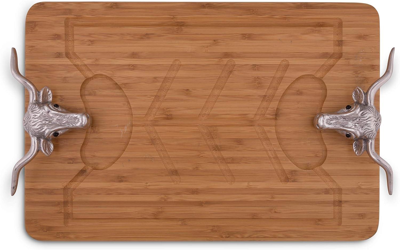 Arthur Court Designs Aluminum Longhorn Carvin Wood Handle Bamboo Limited favorite time sale