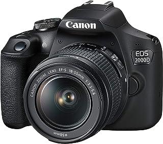 Canon EOS 2000D + EF-S 18-55mm f/3.5-5.6 III Juego de cámara SLR 241 MP CMOS 6000 x 4000 Pixeles Negro - Cámara Digital (241 MP 6000 x 4000 Pixeles CMOS Full HD Negro)