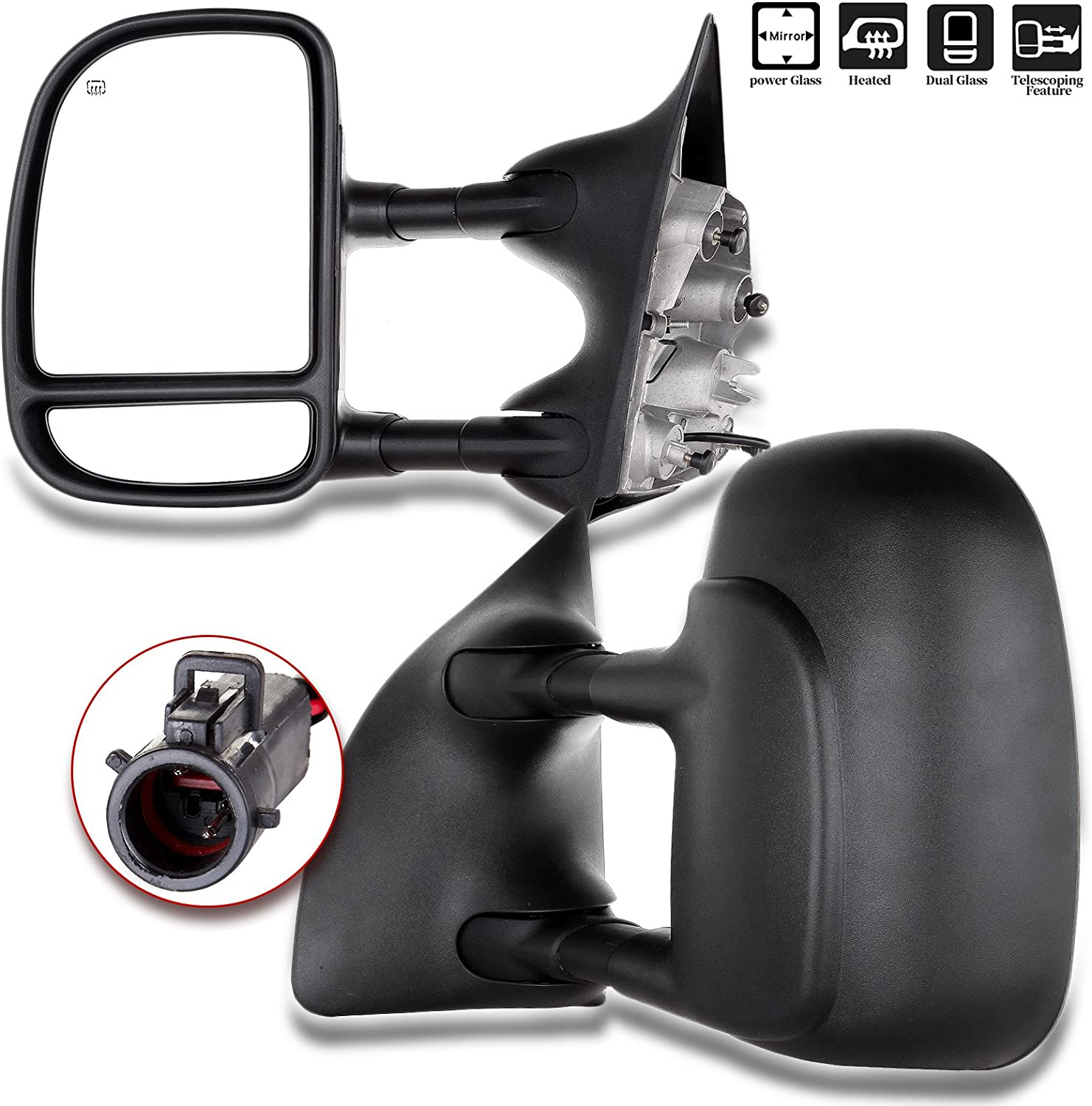 ROADFAR Towing Mirrors Fit For 1999-2007 for Ford for F250/for F