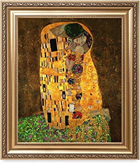 DECORARTS - The Kiss by Gustav Klimt. The World Classic Art Reproductions. Giclee Print with Matching Museum Frame. 20x24, Finished Size: 26x30