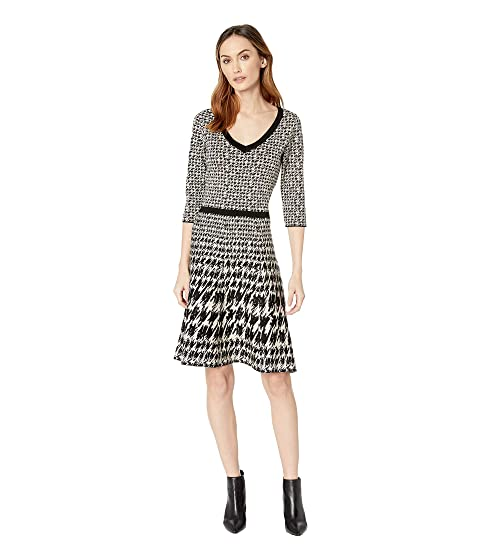 45c87e6c36 Taylor Houndstooth Print V-Neck Sweater Dress at 6pm