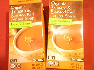 Trader Joe's Tomato and Roasted Red Pepper Soup 32 Oz, 2 Packages