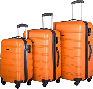 Sponsored Ad - Rolling Luggage Set, Hard Sided Luggage Set with TSA Lock, 360° Rotatable Luggage Set with Spinner Wheels, ...