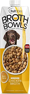Fruitables Broth Bowls Pet Safe Natural Chicken Food Topper Low Calorie Sodium