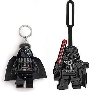 LEGO Star Wars Darth Vader Minifigure Key Light & Luggage Tag Duo
