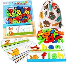 SpringFlower See & Spell Matching Letter Toy,Learning Educational Toy For 3 4 5 6 Years Old Boys And Girls,Preschool Learn...
