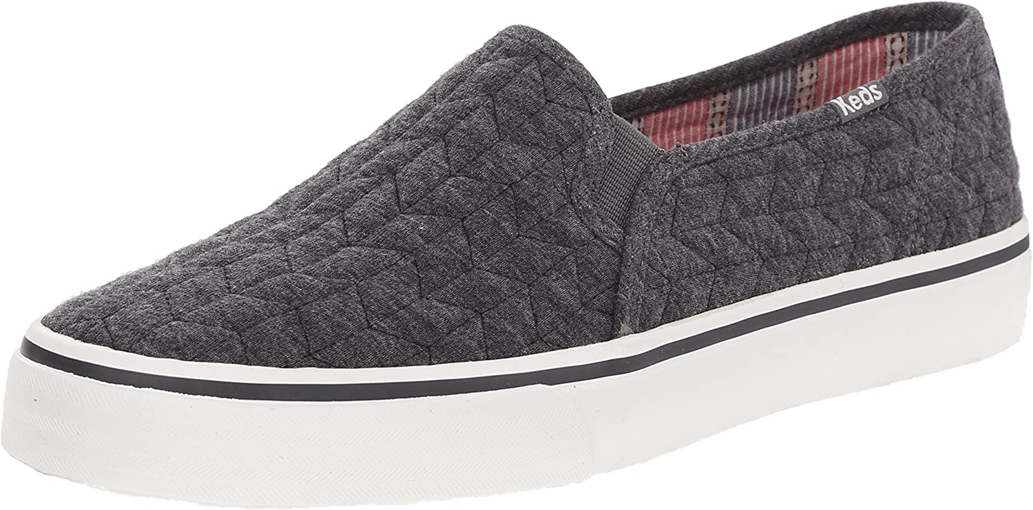 Keds Women's Double Decker Quilted Jersey Fashion Sneaker Grey