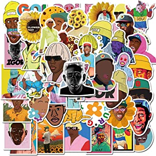 Pop Rapper Tyler Stickers 50PCS for Laptop and Water Bottles,Waterproof Durable Trendy Vinyl Laptop Decal Stickers Pack fo...