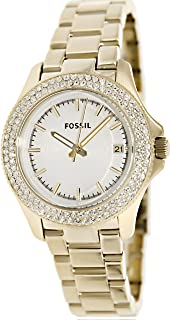 Fossil Women's AM4453 Retro Traveler Gold-Tone Stainless Steel Watch
