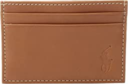 Calf Leather Card Case w/ Money Clip