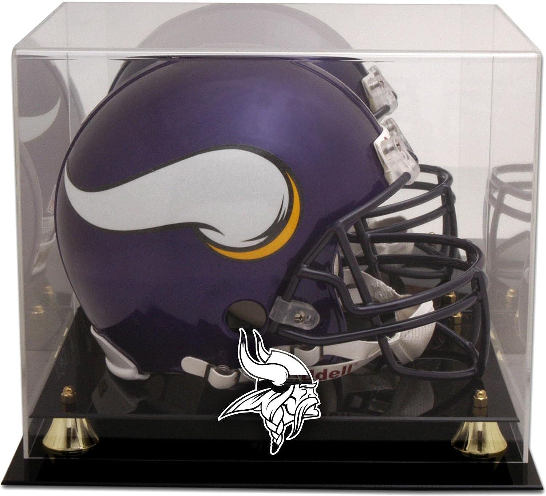 Minnesota Vikings Golden Classic Helmet Display 35% 4 years warranty OFF with Mirror Case