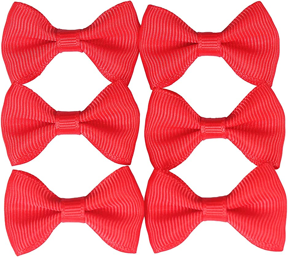 Black Scrapbooks Christmas Cards 10pc 3 Satin Bow Tie Bows Bow Tie Embellishments for Crafts HipGirl 10pc Ribbon Bows for DIY Small Hair Ties,Hair Clips