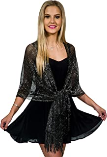 Best black and silver scarf Reviews