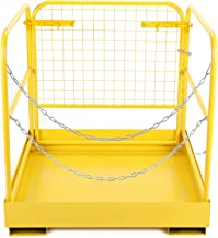 CO-Z Heavy Duty Forklift Safety Cage Steel Work Platform 749 lb. Capacity, 36x36 inch