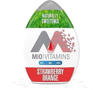 MiO Vitamins Strawberry Orange Liquid Water Enhancer Drink Mix (1.62 fl oz Bottles, Pack of 12)