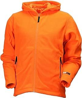 Gamehide Unisex Deer Camp Woodland Fleece Full Zip Hoodie, Blaze Orange,MD
