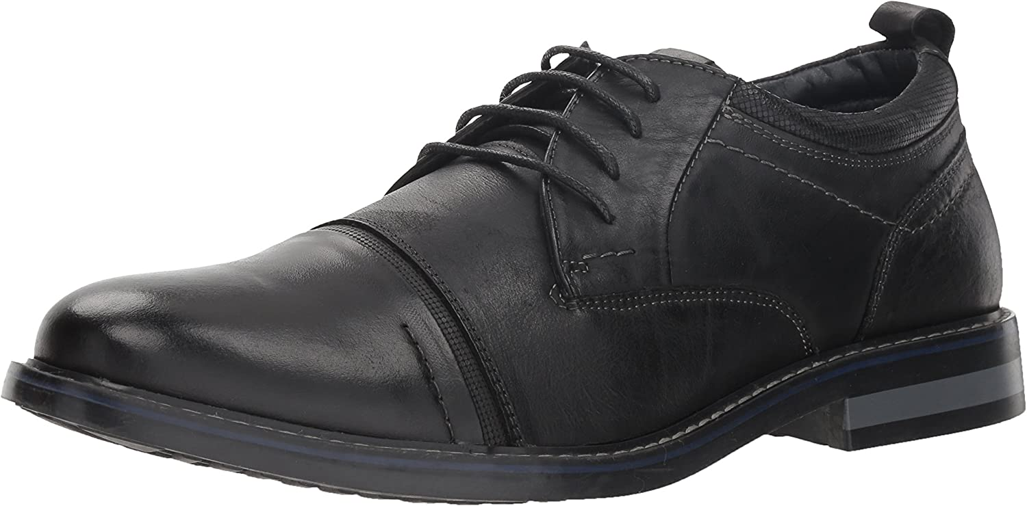 Steve Madden Men's Oleary Oxford, Black Leather, Leather, Leather, 8.5 M US B079JLR9VW  12cef8