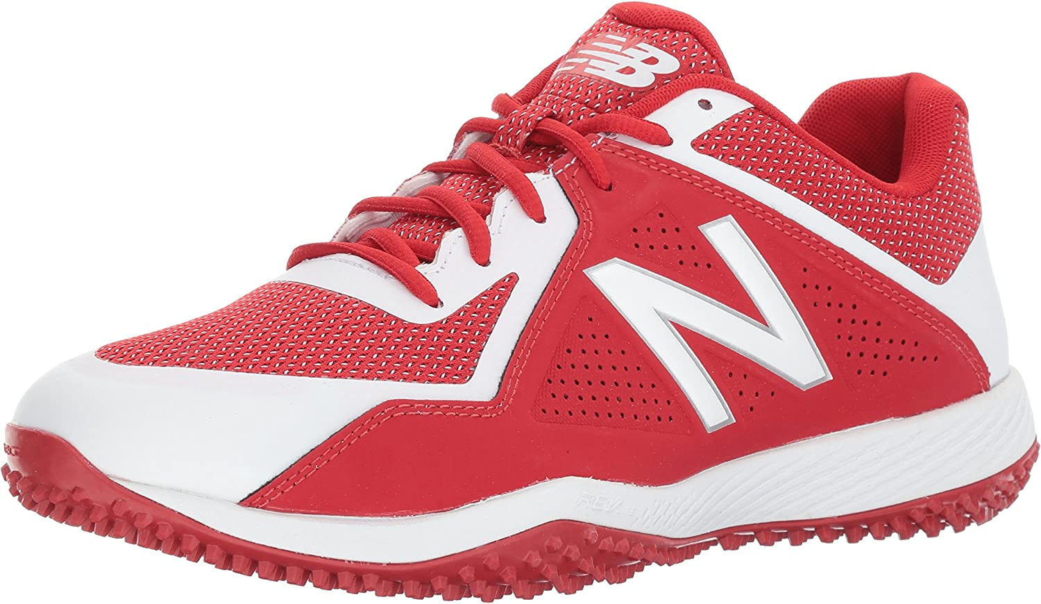New Balance Men's T4040v4 Turf Baseball schuhe, rot Weiß, 15 D US