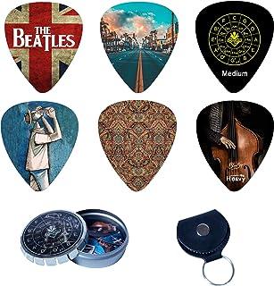 BluesBay Premium Celluloid Guitar Picks-12 Pack Includes Thin, Medium & Heavy Gauges-For Electric,Acoustic,Bass Guitar-Bun...