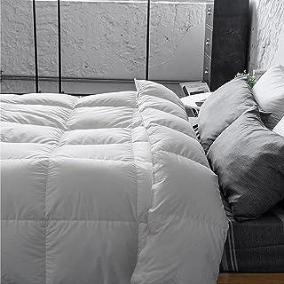 Antar Home Premium Ultra Warm Goose Down Comforter, Duvet Insert Queen, 100% Cotton Shell, Light, Real Filling 90% Grey Go...