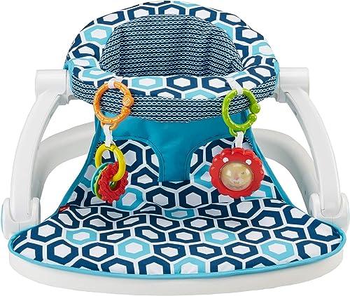Fisher-Price Sit-Me-Up Floor Seat [Amazon Exclusive], Honeycomb (FKD95)
