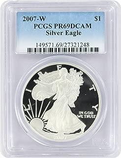 2007-W $1 American Silver Eagle PR69DCAM PCGS