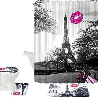 Contour Mat 12 Hooks Amagical 15 Pieces Shower Curtain Set Bathroom Mat Set Colorful Flowers Unicorn Printed Bath Mat Shower Curtain