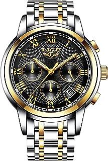 Mens Watches Waterproof Chronograph Stainless Steel Analog Quartz Watch Men Luxury Brand Fashion Dress Business Wristwatch