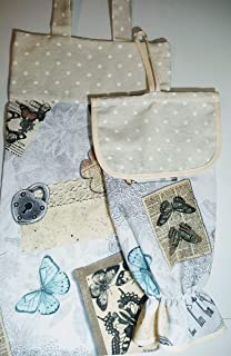 Bolsa de pan y guardabolsas mariposas
