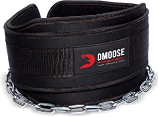 DMoose Dipping Belt with Chain For Pull Ups, Training, Weightlifting, Powerlifting and Bodybuilding Workouts, 36 Inches He...