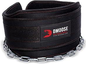 DMoose Fitness Dip Belt met Ketting voor Gewichtheffen, Pullups, Powerlifting, CrossFit en Bodybuilding Workouts, Lange He...