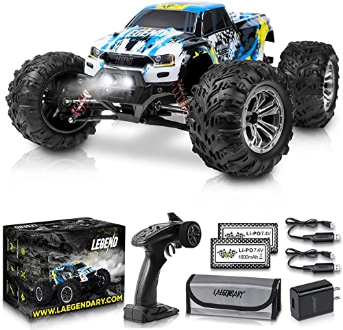 high quality 1:10 Scale Large RC Cars 50+ kmh Speed - Boys Remote Control Car 4x4 Off Road Monster Truck Electric - Hobby Grade Waterproof Toys Trucks for Kids and Adults high quality - discount 2 Batteries + Connector for 40+ Min Play outlet sale