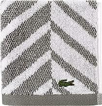 Lacoste Herringbone 100% Cotton Towel, 13x13 Wash Cloth, Meteorite