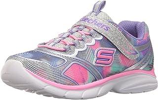 Skechers Kids Girls' Spirit Sprintz Sneaker,Silver/Multi,6 M US Toddler